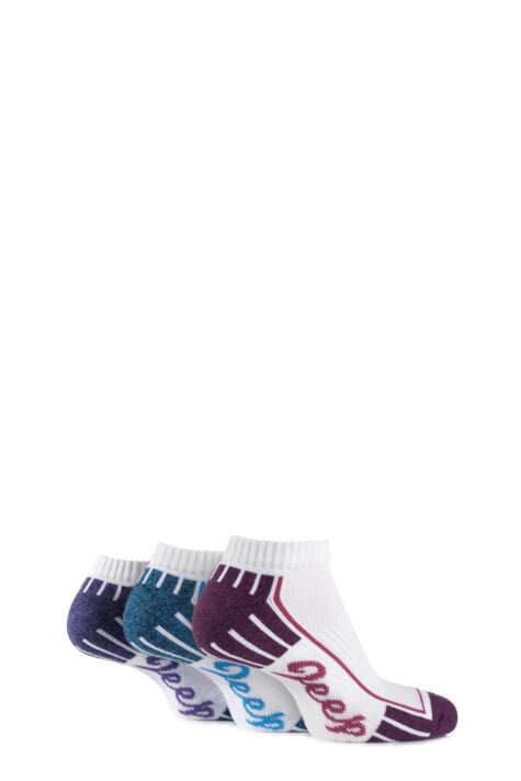 Ladies 3 Pair Jeep Cushioned Cotton Trainer Socks Product Image