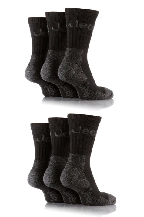 Mens 6 Pair Jeep Luxury Terrain Socks Product Image