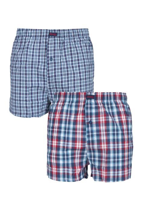 Mens 2 Pair Jeep 100% Cotton Woven Boxers Product Image