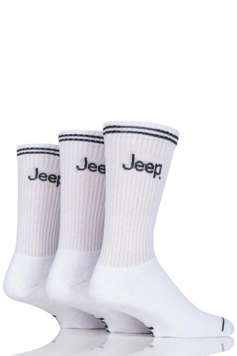 Mens 3 Pair Jeep Leisure Boot Socks Product Image