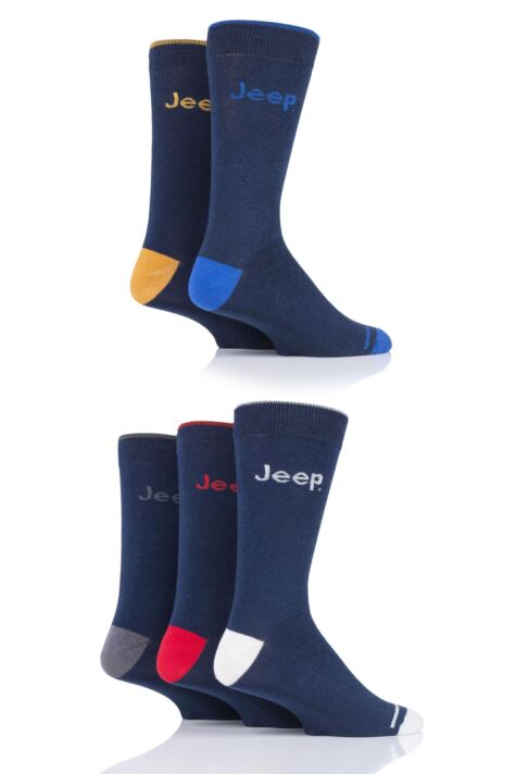 Mens 5 Pair Jeep Plain Socks Product Image