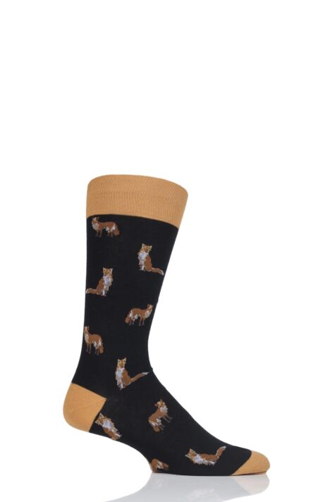 Mens 1 Pair Scott Nichol Farnley All Over Foxes Cotton Socks Product Image