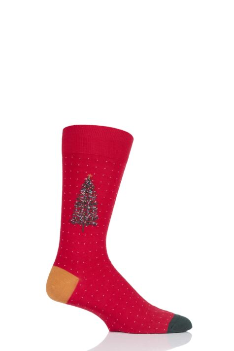 Mens 1 Pair Scott Nichol Christmas Tree Cotton Socks Product Image