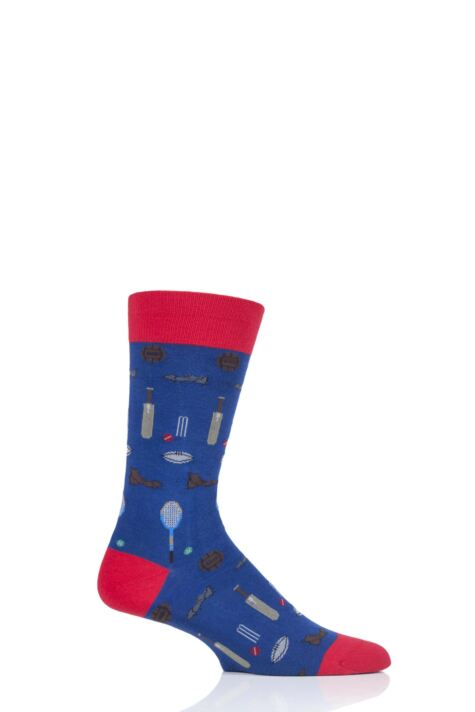 Mens 1 Pair Scott Nichol All Over Sports Cotton Socks Product Image