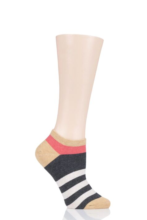 Ladies 1 Pair Tavi Noir Blake Organic Cotton Casual Art Deco Trainer Socks Product Image