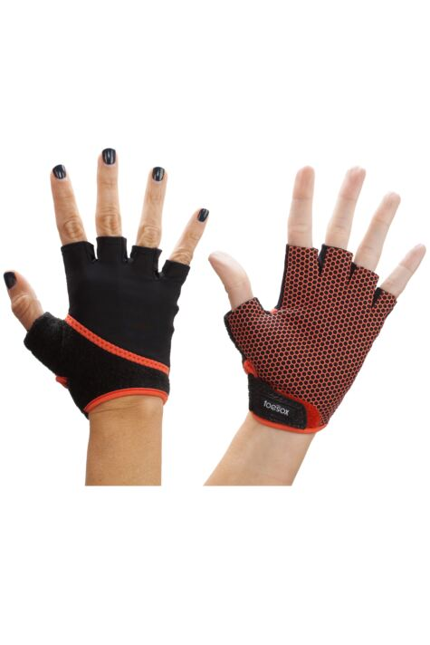 Mens and Ladies 1 Pair ToeSox Yoga Half Finger Grip Gloves Product Image