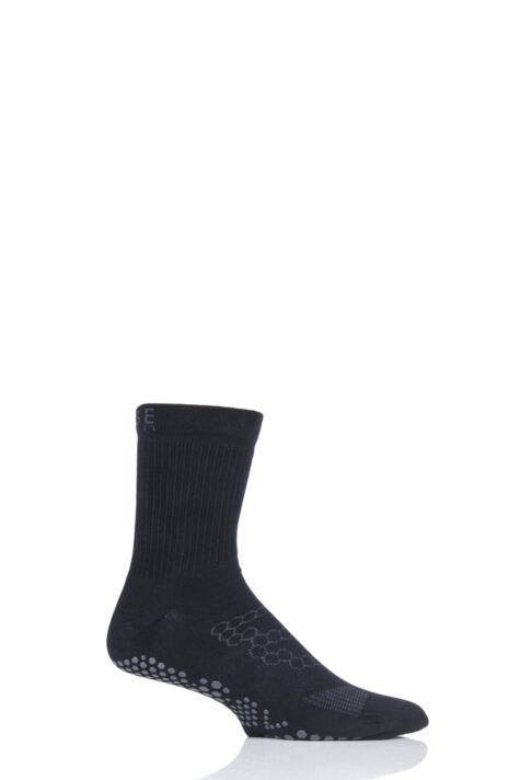 Mens 1 Pair ToeSox Base Crew Socks Product Image