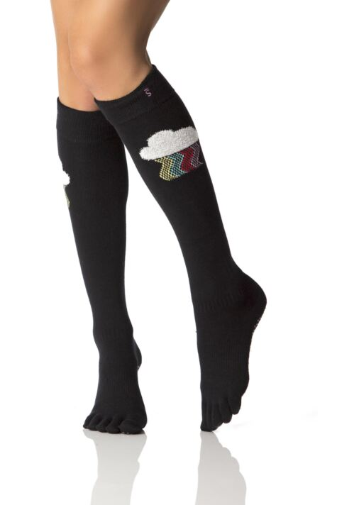 Ladies 1 Pair ToeSox Full Toe Knee High Socks Product Image