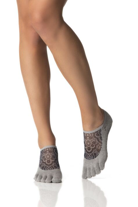Ladies 1 Pair ToeSox Full Toe Organic Cotton Luna Mesh Socks Product Image