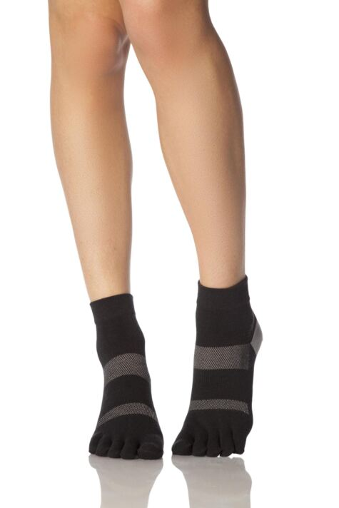 Ladies 1 Pair ToeSox Minnie Sports Full Toe Ankle High Socks Product Image