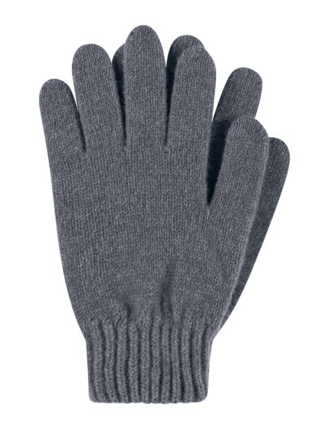 Ladies 1 Pair Great & British Knitwear Made In Scotland 100% Cashmere Plain Gloves In Grey Product Image