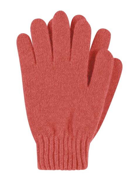 Ladies 1 Pair Great & British Knitwear Made In Scotland 100% Cashmere Plain Gloves In Orange Product Image