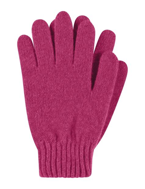 Ladies 1 Pair Great & British Knitwear Made In Scotland 100% Cashmere Plain Gloves In Pink Product Image