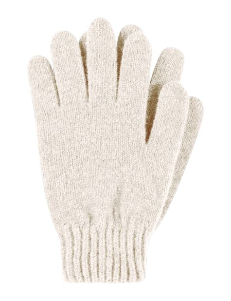 Ladies 1 Pair Great & British Knitwear Made In Scotland 100% Cashmere Plain Gloves In Natural Shades Product Image
