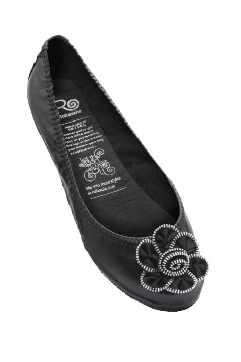 Ladies 1 Pair Rollasole Deluxe Range Midnight Rose Shoes Product Image