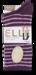 Feather Striped Socks - Plum