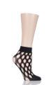 1 Pair Elle Polka Dot Anklet Socks - Black