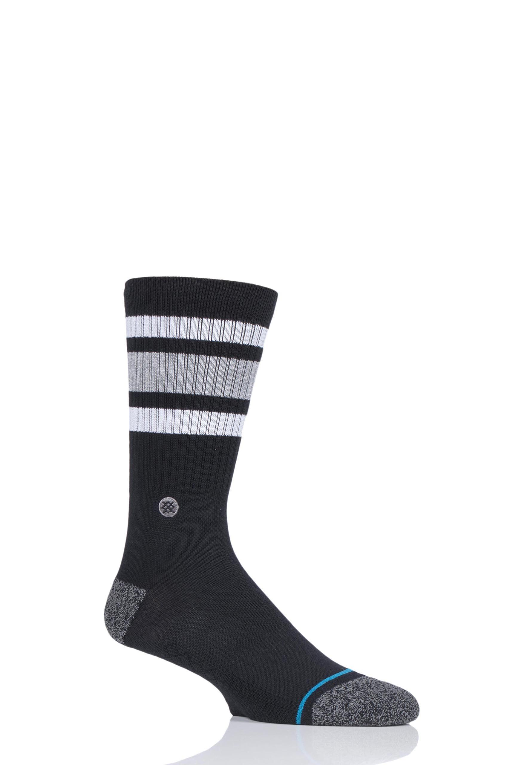 Image of 1 Pair Black Boyd St Cotton Socks Unisex 8.5-11.5 Mens - Stance