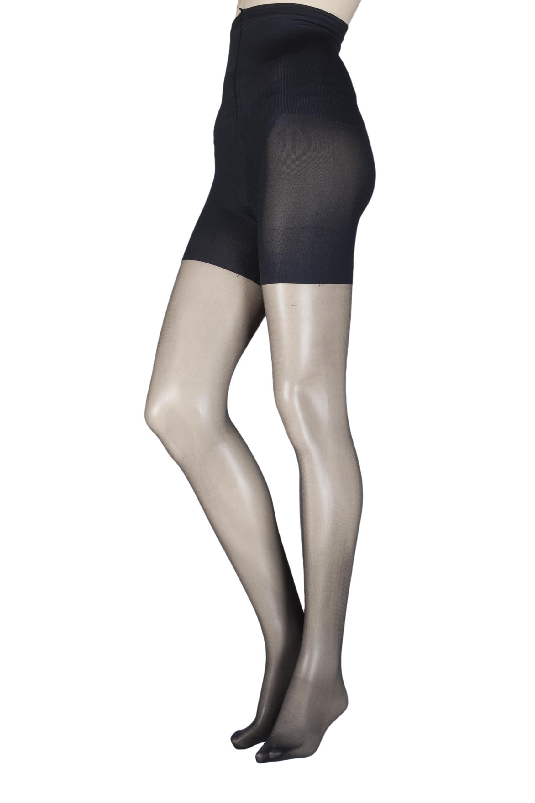 Image of 1 Pair Black 10 Denier Hourglass Toner Tights Ladies Small/Medium - Aristoc