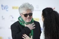 Almodóvar in scarf at Madrid awards