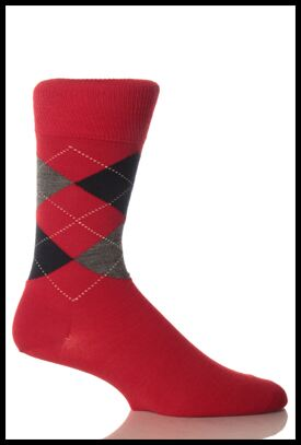 Shop Mens 1 Pair Burlington Edinburgh Virgin Wool Argyle Socks In 6 Colours >