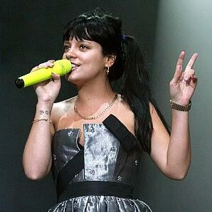 Lily Allen causes storm in hosiery... and little else