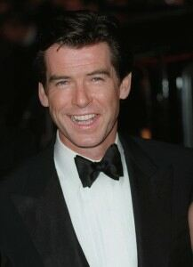Brosnan speaks of humiliation in bright blue tights