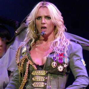 Britney plumps for knee high socks
