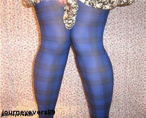 Are patterned tights a part of the 'punky feel' for next spring?
