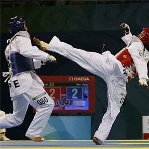 Taekwondo fighter 'disqualified over socks'