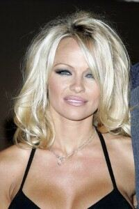 Pamela Anderson wears anchor-print tights