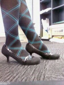 Clashing tights and shoes can work, one expert says