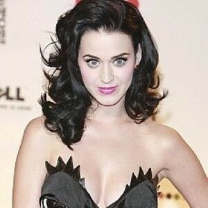 Katy Perry does couture in lace leggings