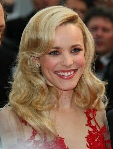 Rachel McAdams parades pins in knee-high socks