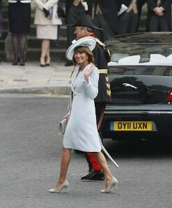 Carole Middleton follows suit in sheer tights