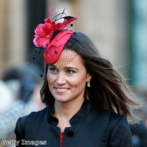 Legging-clad Pippa Middleton is lady in red