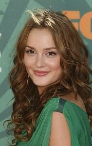 Leighton Meester goes vintage in fishnet tights