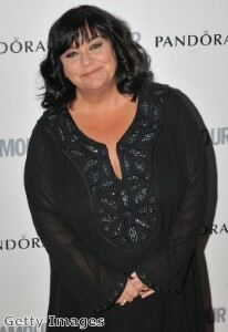 Dawn French shows off svelte figure in black tights