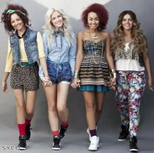 Little Mix indulge in self-promotion with tights