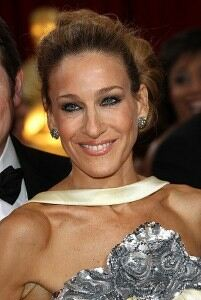 Sarah Jessica Parker coordinates with coloured tights