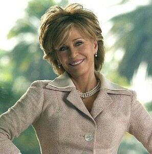 Jane Fonda looks svelte in leggings and leotard