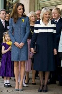 Duchess of Cambridge welcomes spring in sheer tights