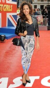 Sugababe Jade Ewen looks edgy in patterned leggings