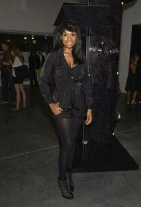 Jennifer Hudson sticks with shorts and tights