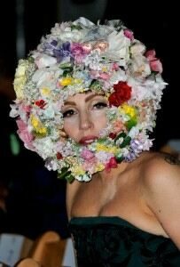 Lady Gaga stands out at Philip Treacy hat show