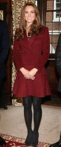 Kate Middleton covers up in opaque tights