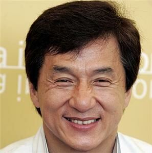 Jackie Chan shows off pressure point socks
