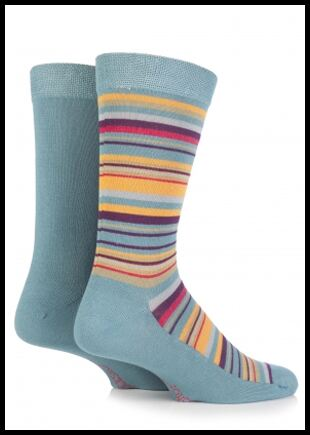 Shop Mens 2 Pair SockShop Patterned Bamboo Socks In 3 Colours >