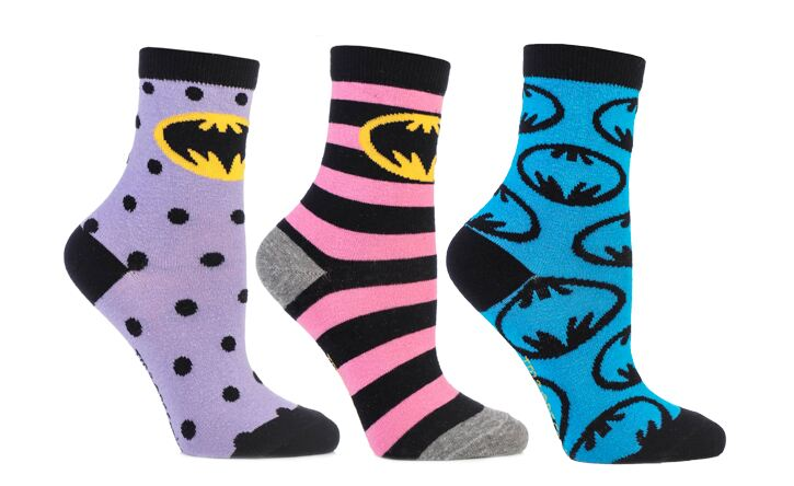 Batman character socks for ladies