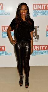 Beverley sparkles in leggings